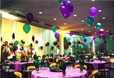 Helium Balloon Centerpieces