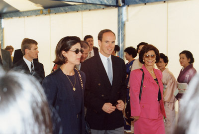 Princess Caroline & Prince Albert Enter